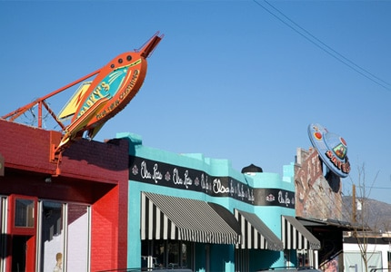 Some of the shops you'll find in the Nob Hill district of Albuquerque, New Mexico