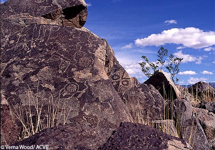 Some of the carvings that can be seen at Petroglyph National Monument in Albuquerque, New Mexico