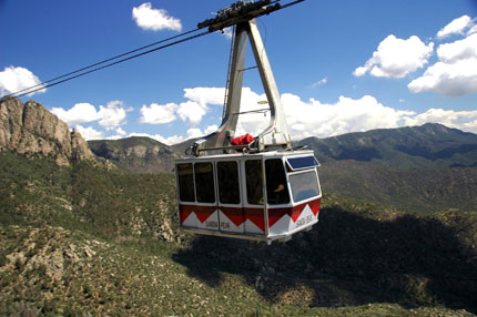 The Sandia Peak Aerial Tramway in Albuquerque, New Mexico