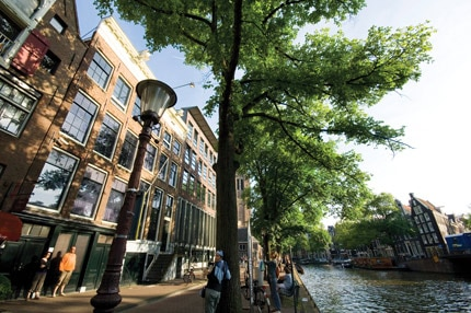 The Anne Frank Huis in Amsterdam, Netherlands