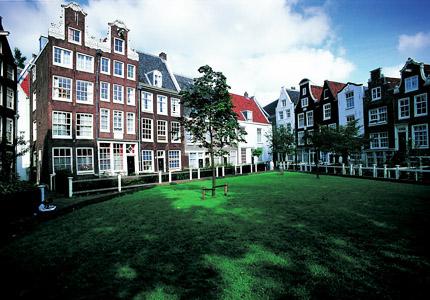Begijnhof in Amsterdam, Netherlands was built to house a lay Catholic sisterhood