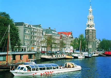 A canal cruise is a great way to explore Amsterdam, Netherlands
