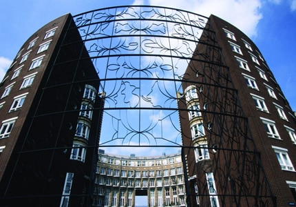 KNSM Island in Amsterdam, Netherlands, is a man-made peninsula and is now a residential area containing modern architecture