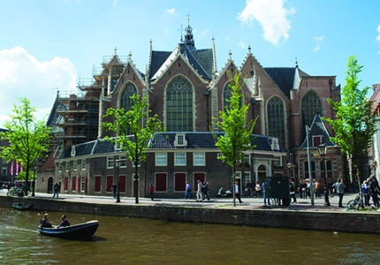 Oude Kerk in Amsterdam, Netherlands dates back to the 13th century
