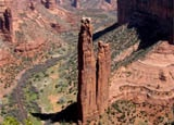 Spider Rock at Canyon de Chelly National Monument in Arizona