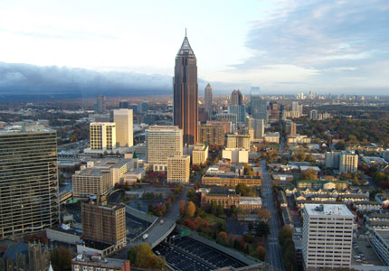 Atlanta's metropolitan area, the ninth largest in the United States, is a major business and transportation hub