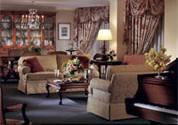 An elegant suite at The Ritz-Carlton Buckhead in Atlanta