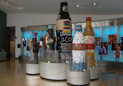 The lobby at the World of Coca-Cola in Atlanta, Georgia