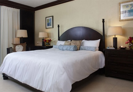 A guest room at Abaco Beach Resort and Boat Harbour on Grand Bahama Island