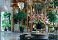 The stunning lobby of the Mandarin Oriental, Bangkok