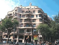 Architect Antoni Gaudí's Casa Milà in Barcelona, Spain