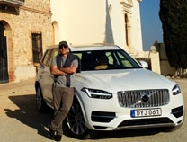 Alain driving the Volvo XC90 on the Costa Dorada