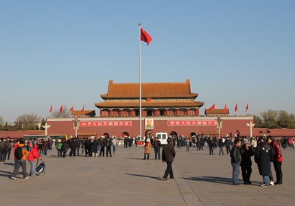 Tiananmen Square is one of Beijing's historic landmarks
