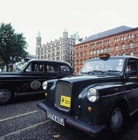 Typical black cabs