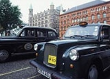 Black cabs in Belfast, Northern Ireland