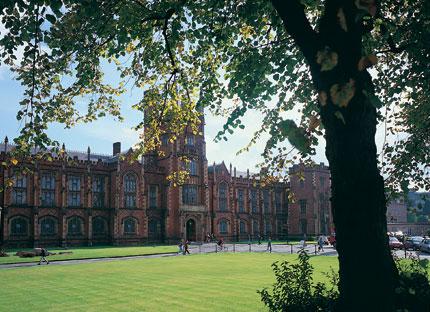 The Tudor-style, 19th-century Queen's University in Belfast, Ireland