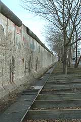 Vestiges of the Berlin wall