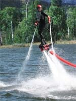 Flyboarding over Big Bear Lake
