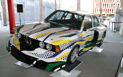 A BMW 320i designed by Roy Lichtenstein