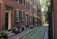 Beacon Hill Street in Boston