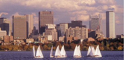 Boats on the Charles River in Boston, Massachusetts