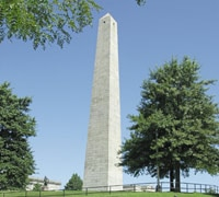 The Bunker Hill Monument in Boston
