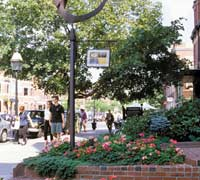 Newbury Street offers upscale shopping in Boston