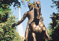 The Paul Revere Statue in Boston