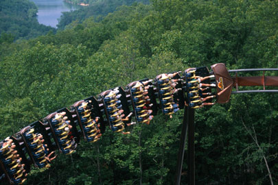 Wildfire Roller Coaster at Silver Dollar City in Branson, Missouri