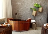 An ofuro tub at Kenoa Exclusive Beach Spa & Resort