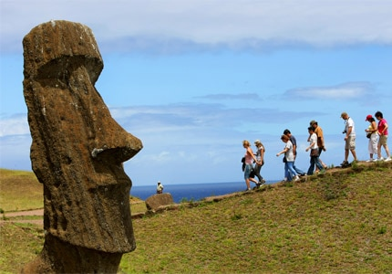 "Easter Island is home to 887 ""moai,"" as the statues are called, and is included in GAYOT.com's Must-See Travel Destinations"