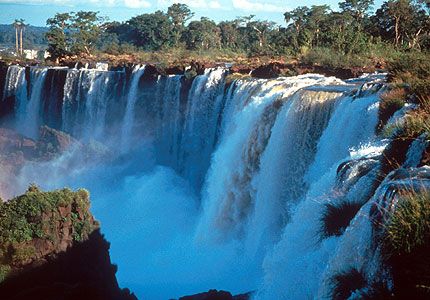 Iguazu Falls in Argentina is one of the world's most striking waterfalls