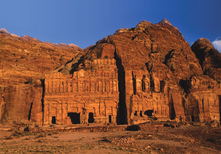The tombs at Petra in Jordan