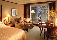 A guest room at the Mandarin Oriental, Kuala Lumpur