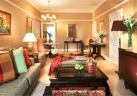 A guest room at The Ritz-Carlton, Kuala Lumpur
