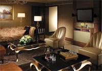 A guest room at the Shangri-La Hotel Kuala Lumpur