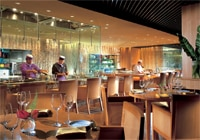 The sushi bar and dining room at Zipangu at the Shangri-La Hotel Kuala Lumpur