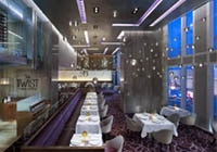The dining room of Twist by Pierre Gagnaire in the Mandarin Oriental, Las Vegas