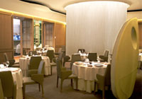 The dining room at Alain Ducasse at The Dorchester in London