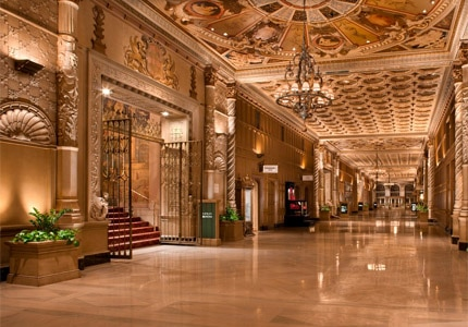 The Millennium Biltmore Hotel in Los Angeles, California was built in Italian Renaissance style