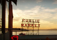 Find over 200 stalls selling all kinds of goods at Pike Place Market in Seattle, WA