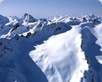Extreme skiing in the mountains of Canada