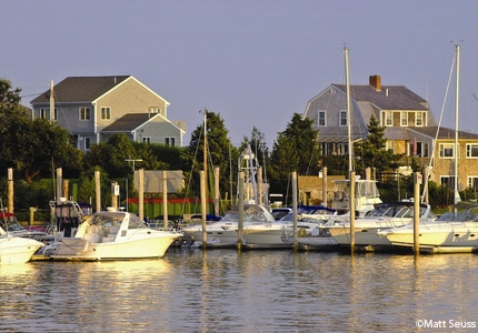 Sailboats at Hyannis Harbor in Massachusetts