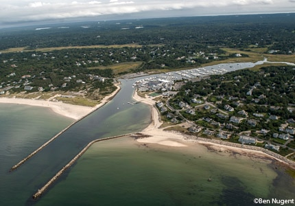 Sesuit Harbor off Route 6A in Dennis, Massachusetts