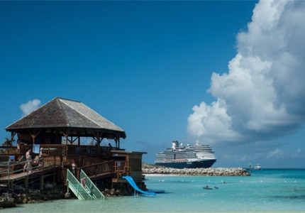 A Holland America Line cruise ship, one of GAYOT's Top 10 Caribbean Cruises