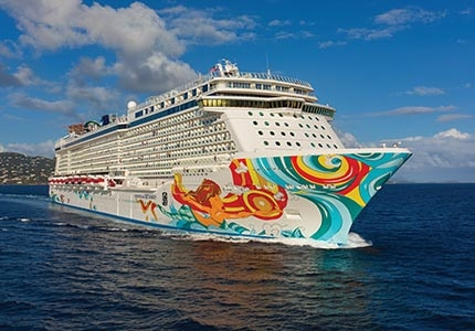 The Norwegian Getaway on the ocean