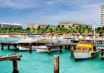 Explore the shops, casinos, and beaches of Aruba, one of P&O's ports of call