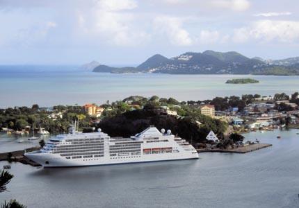 Silversea's Silver Spirit in St. Lucia