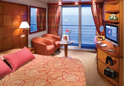 Enjoy the view of the Caribbean waters from a Veranda Suite on the Silver Explorer