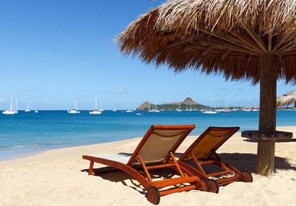 Relax on the shores of the Caribbean Islands